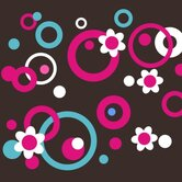 Circles Dots and Flowers Wall Decal