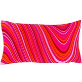 Psychedelic Decorative Pillow in Hot Pink