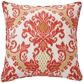 Ikat Linen Decorative Pillow in Coral