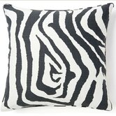 African Zebra Square Pillow