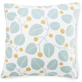 Bethe Leaves Linen Pillow in Aqua