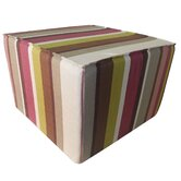 Hosta Stripes Cotton Cube Ottoman
