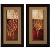 Fossil Leaves I / II Wall Art (Set of 2)
