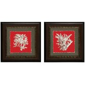 Coral On Red I / IV Framed Art (Set of 2)