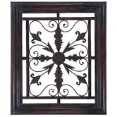 Square Scroll Wall Grille with Metal Frame