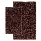 Barbados Shag Accent Chocolate Rug Set