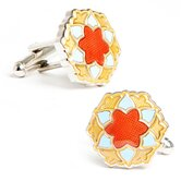 Bloom Cufflinks in Blue / Orange