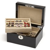 15 Pair Cufflinks Valet Case