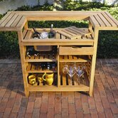 Outdoor Teak Party Bar