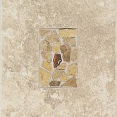 "Castle De Verre 10"" x 13"" Decorative Accent Tile in Turret Beige"