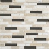 "Stone Radiance 12"" x 12"" Random Mosaic Tile Blend in Kinetic Khaki (10 Pieces)"