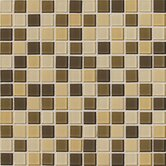 Isis 12&quot; x 12&quot; Glass Mosaic Tile in Cream Blend