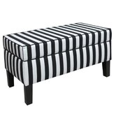 Canopy Stripe Fabric Storage Bench