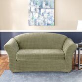 Stretch Squares Two Piece Loveseat Slipcover