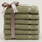 Herringbone 6 Piece Washcloth Set