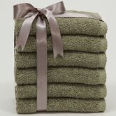 Soft Twist 6 Piece Washcloth Set