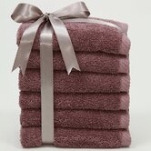 Luxury Hotel & Spa Collection 100% Turkish Cotton Soft Twist Wash Cloths (Set of 6)