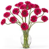 Liquid Illusion Silk Gerber Daisy Arrangement in Beauty Pink
