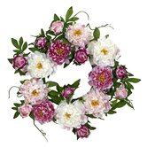22&quot; Peony Wreath