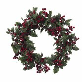 24&quot; Holly Berry Wreath
