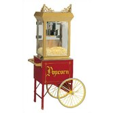 6 oz Antique Popcorn Machine w/ Cart