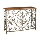 Floral Scroll Console Table