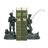 Fish On Line Bookend (Set of 2)