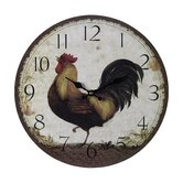 Large Rooster Clock