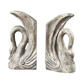 Swan Bookends