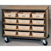 4000 Series Tote Tray Mobile Cabinet