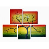 Hand Painted 'Wild Tree' Canvas Art