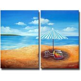 2 Piece 'In the Shade' Canvas Art Set