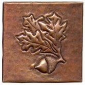 "Acorn 4"" x 4"" Copper Tile"