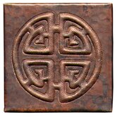 Celtic Cross 4&quot; x 4&quot; Copper Tile