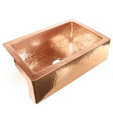 "33"" x 22"" x 10"" Single Bowl Copper Farmhouse Kitchen Sink"