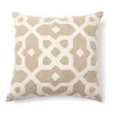 Provence Tuscan Tile Wool Applique Pillow in Natural