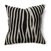 African Mod Kenya Embroidered Stripe Pillow