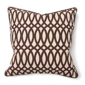 Illusion Geo Print Pillow in Brown