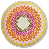 Carnaby Street Linen Fleur De Sun Round Accent Pillow