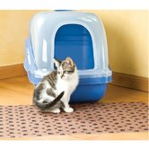 Paw Print Cat Litter Mat