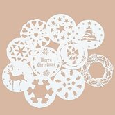 Ten Piece Winter Cake Stencil Set
