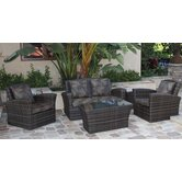 Maui 5 Piece Deep Seating Group with Cushions
