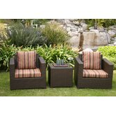 Metro 3 Piece Deep Seating Group with Cushions