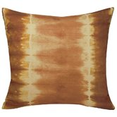 Shibori Decorative Pillow in Papaya