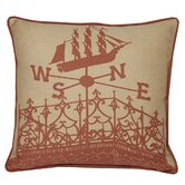 Widows Walk Decorative Pillow in Coral Sand