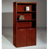 "Summit-Reed 72"" H Bookcase with Cabinet (Fully Assembled)"