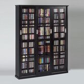 Sliding Glass 3 Door Multimedia Cabinet
