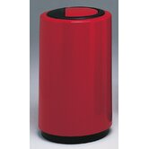 Fiberglass Series 21 Gallon Top Entry Round Receptacle with Doors on Trash Opening