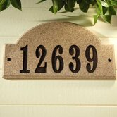Ridgecrest Arch Address Plaque