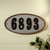 Ridge Oval Address Plaque Kit